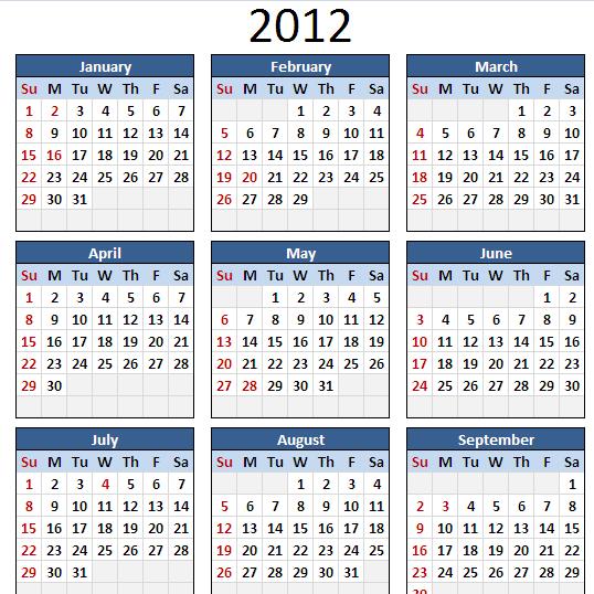 Home / Excel Templates / Calendar / Perpetual Calendar (Basic)